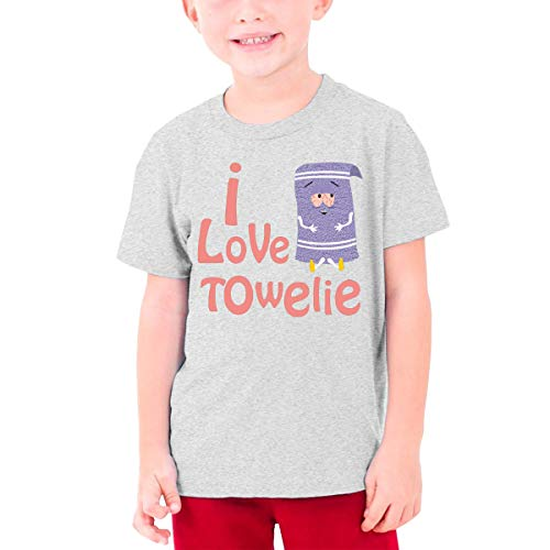 I Love Towelie (1) Shirt Fashion Short Sleeve T-Shirt for Youngster Gray XL