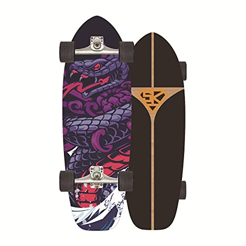 ZBYL Cruiser Skateboards para Adulto Principiantes CX4 Truck Carver Monopatin 8 Capas de Maple Pumpping Surfskate con Rodamientos ABEC-11 para Adolescentes y niños 75 * 24CM