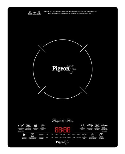 Pigeon by Stovekraft Rapido Slim 2100-Watt Induction Cooktop, Black