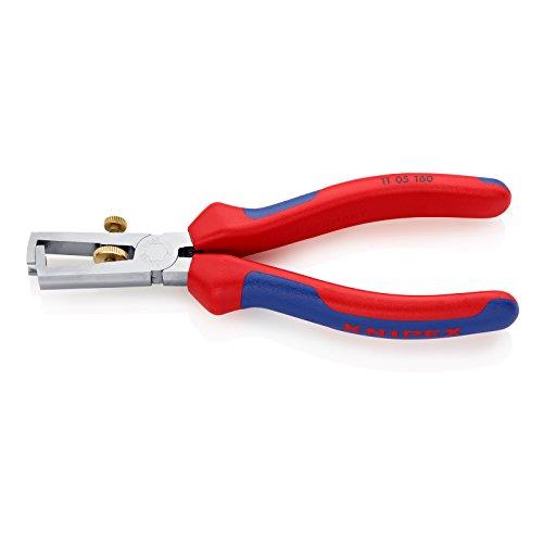 Preisvergleich Produktbild KNIPEX 11 05 160 Abisolierzange verchromt mit Mehrkomponenten-Hüllen 160 mm