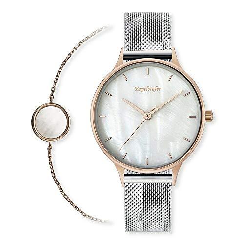 Engelsrufer Erwo Pearl-01 Damen Armbanduhr (Set Uhr + Armband) 34 mm