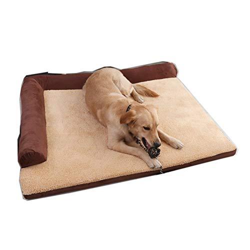 DUCHEN Cama ortopédica de espuma viscoelástica para perros con funda extraíble y lavable, cómoda para perros grandes, cesta antideslizante