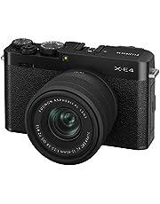 富士フイルム ミラーレスデジタルカメラ FUJIFILM X-E4 レンズキット ブラック (XC15-45) F X-E4LK-1545-B