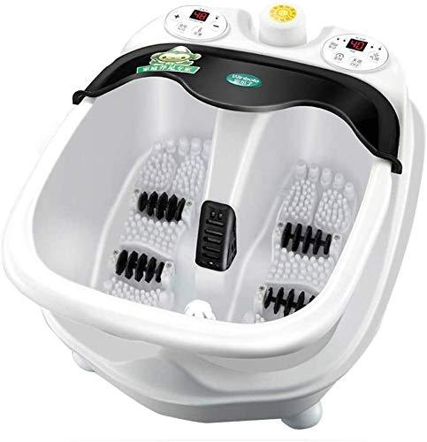 Elektrische voetmassagers, voetbad split voetbad automatische massage voetbad elektrisch verwarmd voetbad vat met verwarming vrienden voetbaden en massauren worden verzonden 46,8 x 36,8 x 26,8 cm, wit.