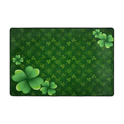 N\A Area Tappeto Irish St Patrick 's Clover Shamrock Lascia Antiscivolo Comfort Mat Tappeto Tappeto per Soggiorno Camera da Letto Sala Studio