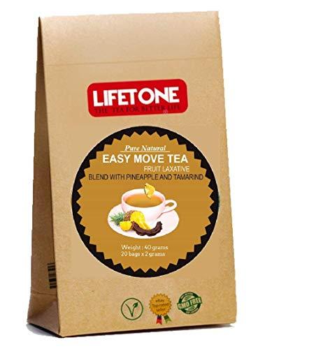 Té laxante para la pérdida de peso Deox, mezcla deliciosa de piña y tamarindo Easy Move, 20 bolsitas de té
