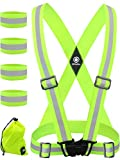 Reflective Vest with Reflective Bands - Reflective...