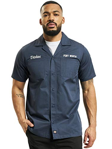 Dickies Herren Hemden Halma blau M