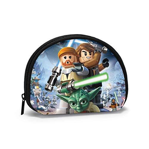 Mandalorian Jedi Knight Shell bolsa de almacenamiento para mujeres y niñas linda moda con cremallera monedero monedero monedero bolsa de cambio multifunción bolsa organizador