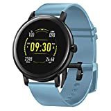 Smart Watch 1.22 Inch - HAOQIN HaoWatch QS2 Touch Screen Sport Watch for Android&iOS, Fitness Activity Tracker with Heart Rate Monitor, Bluetooth, IP67 Waterproof, 150 mAh Battery for Women Men(Blue)
