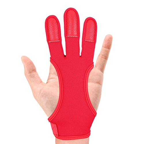 JKER TECH Archery Gloves Shooting Hunting Leather Three Finger...