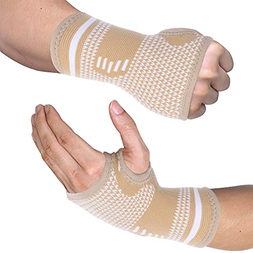 FITTOO Copper Compression Hand and Wrist Sleeves Brace for Men & Women -...