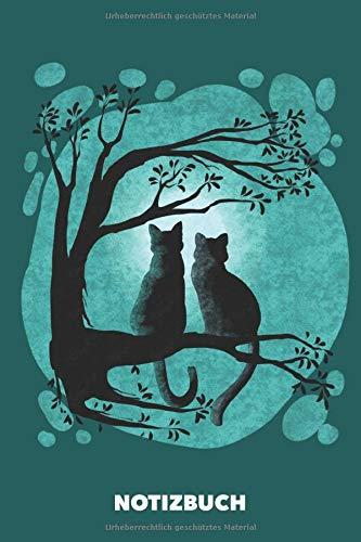 Notizbuch: Notizbuch mit Katzenmotiv DIN A5 liniert || 120 Seiten || Kätzchen | Kater | Miezekatze | Katzen Geschenk | Notizheft | Schreibheft | Schulheft | Tagebuch | Journal | Zeichenbuch | Kladde