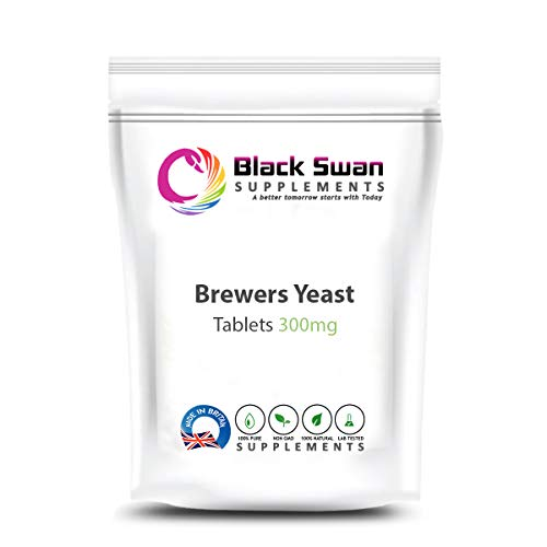Black Swan Brewers Yeast 300mg Tablets Vitamin B-Complex - Healthy Sugar Level – Supports Energy Level and Immune System (60 tabs)