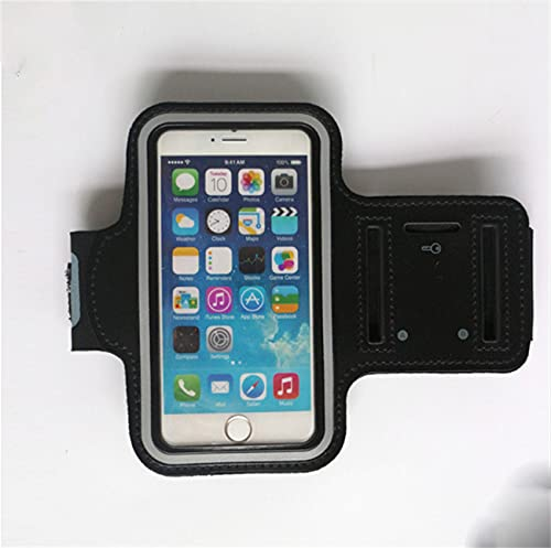 WWYCDD Brazalete para Correr Impermeable, iPhone 12/12 Mini / 12 Pro / 11Pro / XR/XS/X / 8 Soporte de Brazo para teléfono móvil, Soporte 4.7, 5.5, 6.5 (S,Black)
