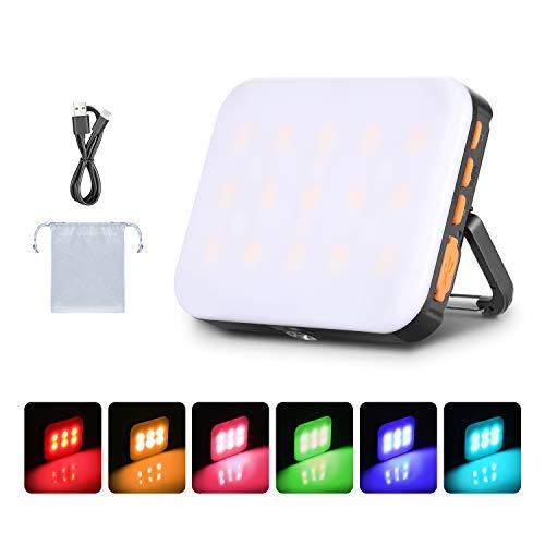 Neewer Luz de Linterna LED RGB Impermeable para Exteriores Recargable 3000mAh Luz...