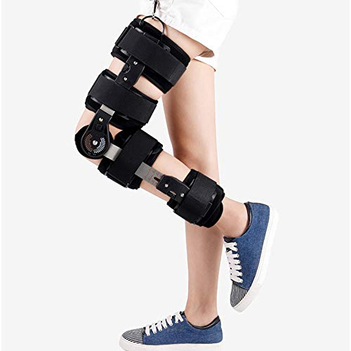 Zoe's Health Hinged Knee Brace with Shoulder Strap,Hinged Immobilizer for ACL,MCL and PCL Injury,ROM knee brace for Women and Men,Adjustable Recovery Support for Orthopedic Rehab,Post-Operative