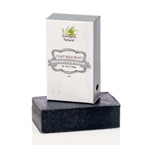 Activated Charcoal Soap Bar With Dead Sea Mud - For Dry Sensitive...