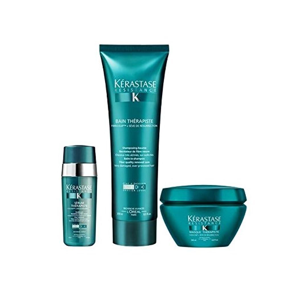 ショート悲観的関係K?rastase Resistance Therapiste Shampoo, Masque And Serum Trio (Pack of 6) - ケラスターゼ抵抗シャンプー、仮面や血清トリオ x6 [並行輸入品]