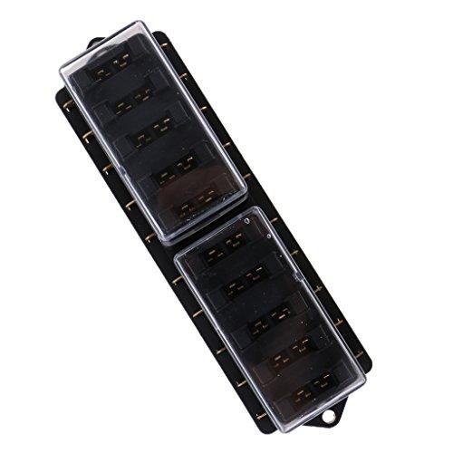 MagiDeal 10 Way Voiture Circuit Boîte Porte à Fusible Box Lame 12V 24V 32V ATC ATO pour Bateau