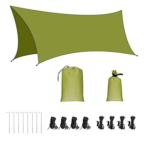 AROMUJOY Bâche Anti-Pluie Camping Tent Tarp...