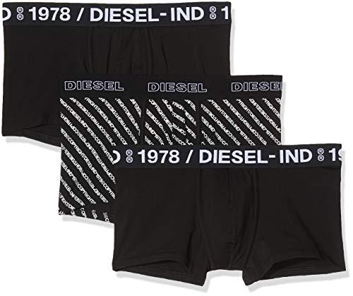 Diesel Herren UMBX-damienthreepack Unterhose, Mehrfarbig (Bright White/Black/Black E2892-0saya), Large (3er Pack)
