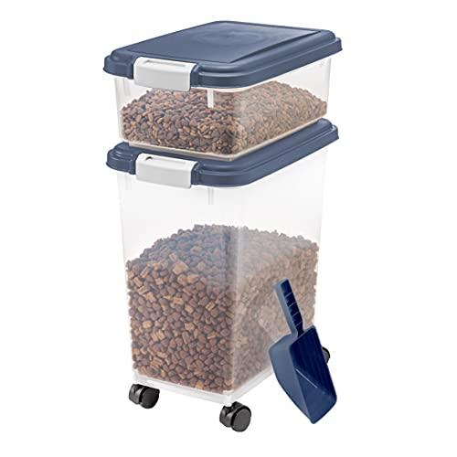IRIS USA 3 Piece Airtight Pet Food Storage...