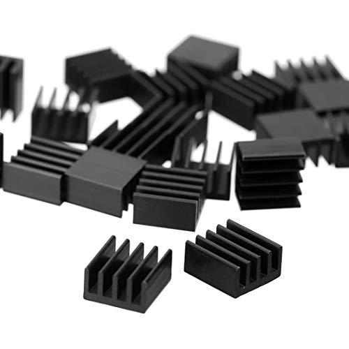 20 Stücke Aluminium Mini Kühlkörper Kühler Heatsink Set Schwarz 8.8 x 8.8 x 5mm