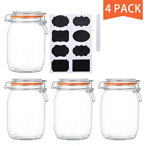 glass kitchen jars - 6