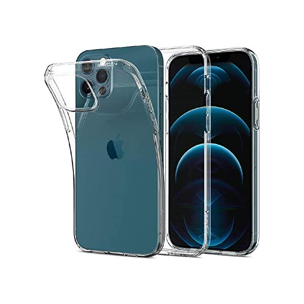 Amazon Brand - Solimo Mobile Cover (Soft & Flexible Back case) Transparent for Apple iPhone 12 Pro Max 4 41coSS6hfVL