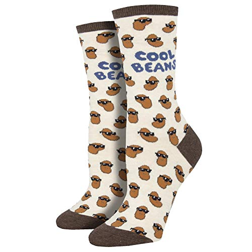 Socksmith Cool Beans Ivory Heather 9-11 (Women's Shoe Sizes 5-10.5)
