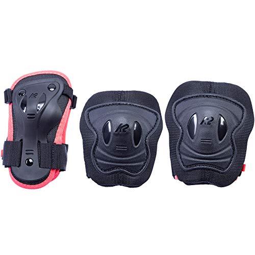 K2 Skates Mädchen MARLEE PRO PAD SET, black-orange, XS (Knee: A:23-27cm B:21-25cm / Elbow: A:19-22cm B:17-20cm / Wrist: A:15-17cm B:12-14cm)