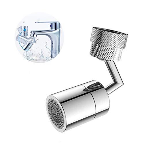 Mingjing - Rubinetto universale per filtro a spruzzo, ugello di spruzzo per rubinetto, uscita dell'acqua a rotazione di 720°, testa di rubinetto a bolle da cucina, con filtro a 4 strati (1 pezzi)