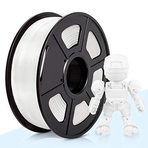 ABS Filament 1.75mm,3D Warhorse White ABS Filament for 3D Printer,1KG Spool,Dimensional Accuracy +/- 0.02mm,3D Printing Filament ABS White,ABS Filament,1.75mm Filament