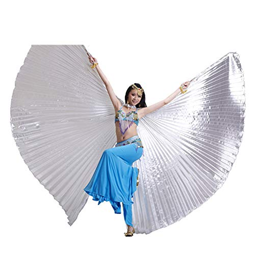 Belly Dance Wings - Adult 360 Degree Belly Dance Wing - Indian Dance Wing Kostuum ZILVER