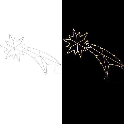 LED Sternschnuppe Weihnachtsdekoration mit 6h-Timer Lichterkette Innen und Außenbereich Dekofigur