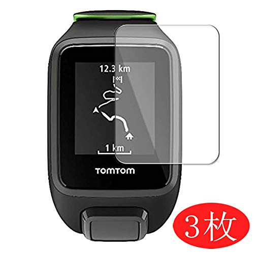 【3 Pack】 Synvy Screen Protector for Tomtom Runner 3 Cardio TPU Flexible HD Clear Case-Friendly Film Protective Protectors [Not Tempered Glass] New Version