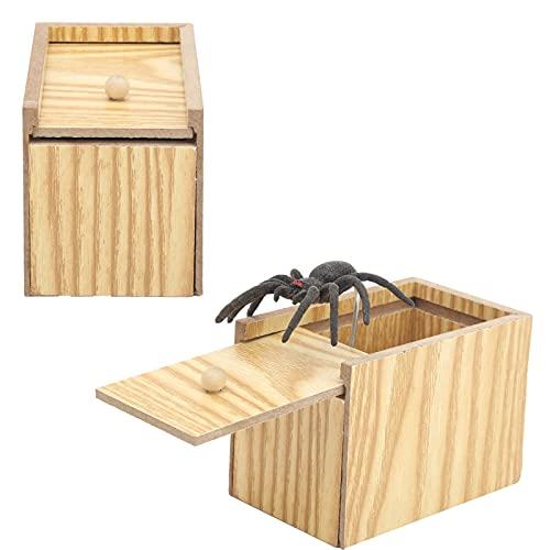Spindelskrämningsbox, knepiga leksaker lustiga skrämmedlemmar pranks för vuxna fåniga strängar för födelsedagspresenter