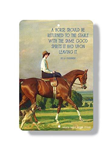 Thomas655 Paard kunst metalen teken indoor outdoor muurkunst paard wooncultuur inspirerend paard citaat zijzadel dressur citaat paardenliefhebber cadeau