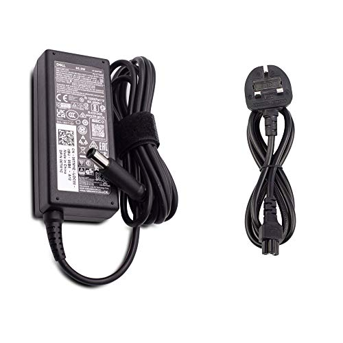 Dell Wikiparts* New 65W Original Ac Adapter Replacement Latitude E5550 E5570 E6440 E6540 E7240 E7270 E7440 E7470 E6530 E7240 E7440 Laptop Power Supply Charger with UK Power cord