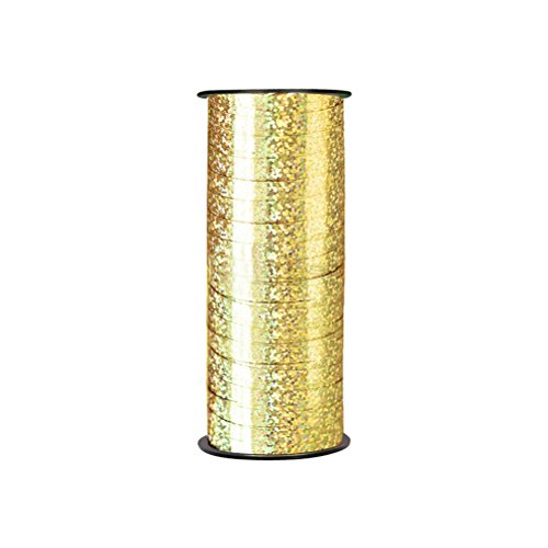 rosenice Ringelband Balloon Curling Band 100 Yard DIY Polyband für Party Festival Geschenkverpackung (Gold)