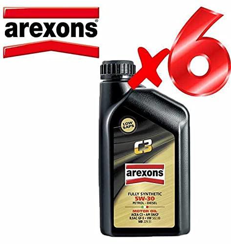 Olio Motore 5w30 Petronas/AREXONS C3 Sintetico da 6 L Litri per Motori Benzina e Diesel GPL e metano