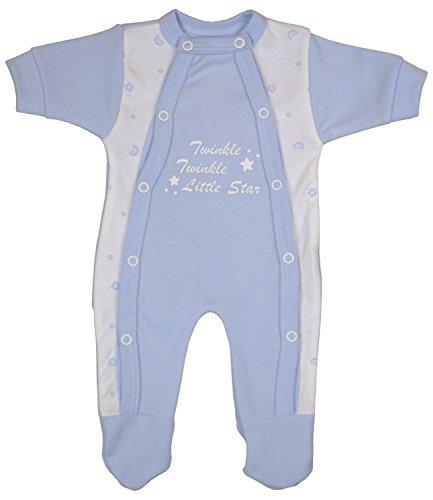 Babyprem Bebé Prematuro Pijama Mameluco Ropa Algodón Niñas Twinkle Little Star 44-50cm Azul