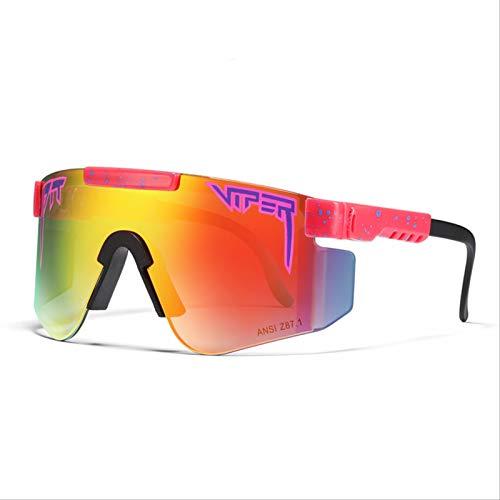 RSRZRCJ Pit Viper Gafas de sol polarizadas de doble ancho con espejo azul Lente Tr90 Marco Uv400 Protección Ciclismo Gafas de sol deportivas C33