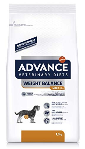 ADVANCE Veterinary Diets Weight Balance Mini - Pienso para Perros Mini con Problemas de Sobrepeso- 1,5 kg