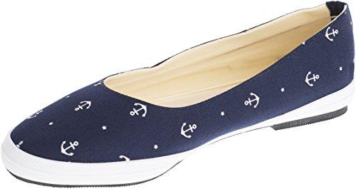 Unbekannt Damen Schuhe Sailor Anker Ballerinas Blau Ballerinas 36