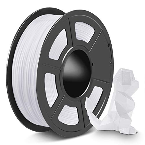 SPLA 3D Printer Filament 1.75mm, PLA Filament and PETG 3D Filament Mix Together, Shiny SPLA 1.75 White, 1kg
