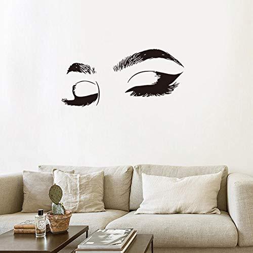 Adhesivo decorativo para pared con pestañas y cejas, para sala de estar o sofá, 57 x 24,6 cm