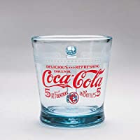 Fire-King Dハンドルマグ サファイアブルー フィルビー柄 [1910s Coca-Cola Logo]