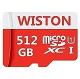 Micro memoria Class 10 SDXC Card 512 GB Micro SD Card C10 Tarjetas de memoria TF Card Transflash con adaptador SD para teléfono o cámara (512 GB)